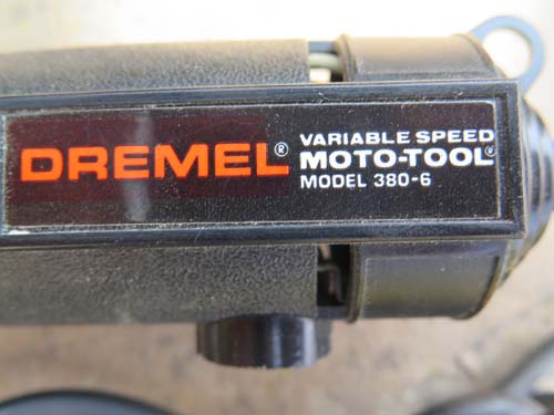 DREMEL MODEL 380-6. Variable speed, 110 volt AC powered